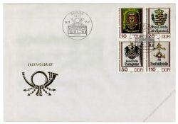 DDR 1990 FDC Mi-Nr. 3306-3309 (ZD) SSt. Tag der Werktätigen des Post- und Fernmeldewesens