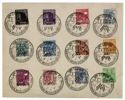 Gemeinschaftsausgaben 1948 Mi-Nr. 943-945, 947, 949-952, 954, A956, 957-958 SSt. Leipziger Frühjahrsmesse