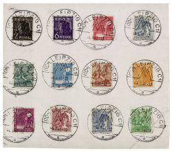 Gemeinschaftsausgaben 1947 Mi-Nr. 943-945, 947, 949-952, 954, A956, 957-958 SSt. Leipziger Frühjahrsmesse