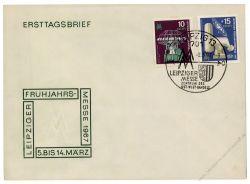 DDR 1967 FDC Mi-Nr. 1254-1255 SSt. Leipziger Frühjahrsmesse