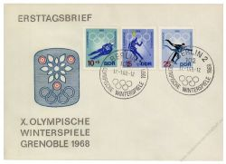 DDR 1968 FDC Mi-Nr. 1335-1340 SSt. Olympische Winterspiele