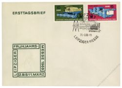 DDR 1969 FDC Mi-Nr. 1448-1449 SSt. Leipziger Frühjahrsmesse