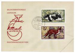 DDR 1970 FDC Mi-Nr. 1541-1544 ESt. Internationale Leipziger Rauchwarenauktion