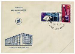 DDR 1970 FDC Mi-Nr. 1551-1552 SSt. Leipziger Frühjahrsmesse
