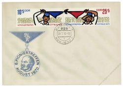DDR 1970 FDC Mi-Nr. 1596-1597 (ZD) ESt. Pioniertreffen