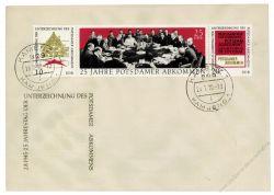 DDR 1970 FDC Mi-Nr. 1598-1600 (ZD) ESt. 25. Jahrestag der Unterzeichnung des Potsdamer Abkommens