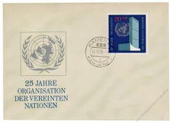 DDR 1970 FDC Mi-Nr. 1621 ESt. 25 Jahre Vereinte Nationen