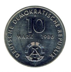 DDR 1986 J.1608 10 Mark Ernst Thälmann vz