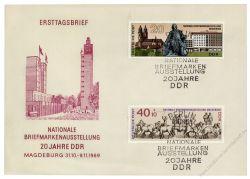 DDR 1969 FDC Mi-Nr. 1513-1514 SSt. Nationale Briefmarkenausstellung 20 Jahre DDR
