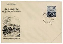 DDR 1953 FDC Mi-Nr. 396 ESt. Tag der Briefmarke - vor Ersttag