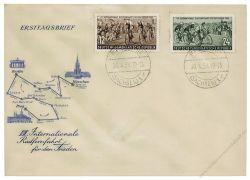 DDR 1954 FDC Mi-Nr. 426-427 ESt. Internationale Radfernfahrt für den Frieden