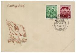 DDR 1954 FDC Mi-Nr. 428-429 SSt. Deutschlandtreffen der Jugend