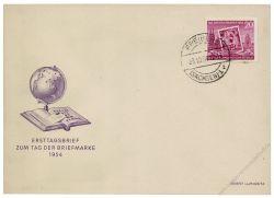 DDR 1954 FDC Mi-Nr. 445A ESt. Tag der Briefmarke