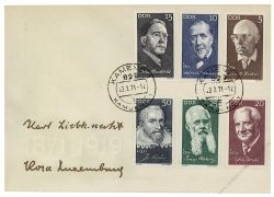 DDR 1971 FDC Mi-Nr. 1644-1649 ESt. Berühmte Persönlichkeiten