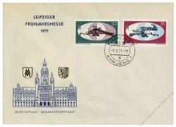 DDR 1971 FDC Mi-Nr. 1653-1654 ESt. Leipziger Frühjahrsmesse