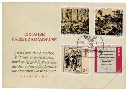 DDR 1971 FDC Mi-Nr. 1655-1658 SSt. 100 Jahre Pariser Kommune