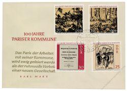 DDR 1971 FDC Mi-Nr. 1655-1658 ESt. 100 Jahre Pariser Kommune