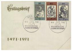 DDR 1971 FDC Mi-Nr. 1672-1674 SSt. 500. Geburtstag von Albrecht Dürer