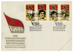 DDR 1971 FDC Mi-Nr. 1675-1678 SSt. Parteitag der Sozialistischen Einheitspartei Deutschlands