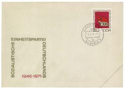 DDR 1971 FDC Mi-Nr. 1679 ESt. Parteitag der Sozialistischen Einheitspartei Deutschlands