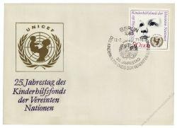 DDR 1971 FDC Mi-Nr. 1690 SSt. 25 Jahre Kinderhilfsfonds der Vereinten Nationen