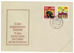 DDR 1971 FDC Mi-Nr. 1691-1692 ESt. 10 Jahre Berliner Mauer