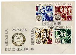 DDR 1974 FDC Mi-Nr. 1949-1952 SSt. 25 Jahre DDR