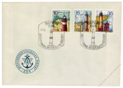 DDR 1974 FDC Mi-Nr. 1953-1957 SSt. Leuchttürme
