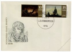 DDR 1974 FDC Mi-Nr. 1958-1961 SSt. 200. Geburtstag von Caspar David Friedrich
