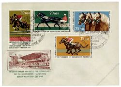 DDR 1974 FDC Mi-Nr. 1969-1972 SSt. Internationaler Kongress für Pferdezucht der sozialistischen Staaten
