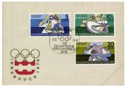DDR 1975 FDC Mi-Nr. 2099-2104 SSt. Olympische Winterspiele