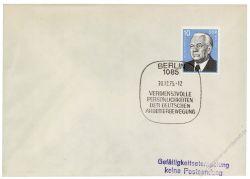 DDR 1975 FDC Mi-Nr. 2106 SSt. Persönlichkeiten der deutschen Arbeiterbewegung