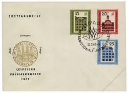 DDR 1962 FDC Mi-Nr. 873-875 SSt. Leipziger Frühjahrsmesse