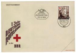DDR 1953 FDC Mi-Nr. 385 ESt. Deutsches Rotes Kreuz in der DDR