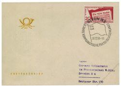 DDR 1958 FDC Mi-Nr. 672 SSt. 40 Jahre Kommunistische Partei Deutschlands