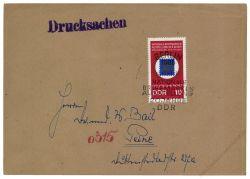 DDR 1969 FDC Mi-Nr. 1477 SSt. Nationale Briefmarkenausstellung 20 Jahre DDR