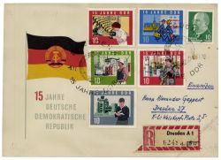 DDR 1964 FDC Mi-Nr. 1059A-1073A SSt. 15 Jahre DDR