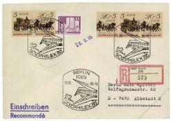 DDR 1985 FDC Mi-Nr. 2965-2966 (ZD) - Variante - SSt. Internationale Briefmarkenausstellung