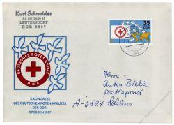 DDR 1987 FDC Mi-Nr. 3088 ESt. Kongress des Deutschen Roten Kreuzes der DDR