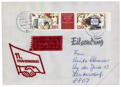 DDR 1987 FDC Mi-Nr. 3086-3087 (ZD) ESt. Kogress des Freien Deutschen Gewerkschaftsbundes
