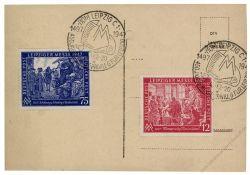 Gemeinschaftsausgaben 1947 Mi-Nr. 965-966 SSt. Leipziger Herbstmesse