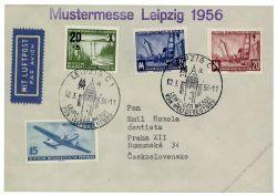 DDR 1956 Mi-Nr. 449, 512, 518-519 SSt. Leipziger Frühjahrsmesse