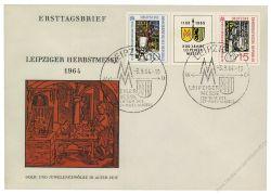 DDR 1964 FDC Mi-Nr. 1052-1053 (ZD) - Mi-Nr. 1052 mit PF III - SSt. Leipziger Herbstmesse