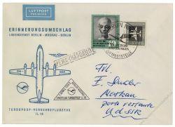 DDR 1960 Erstflug Berlin-Moskau - Mi-Nr. 609, 743 - Turboprop IL18