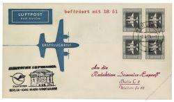 DDR 1958 Erstflug Berlin-Karl Marx Stadt - Mi-Nr. 609 - DH51