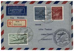 DDR 1956 Erstflug Berlin-Moskau - Mi-Nr. 513, 539-540