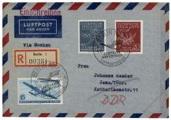 DDR 1956 Erstflug Berlin-Moskau - Mi-Nr. 514, 539-540