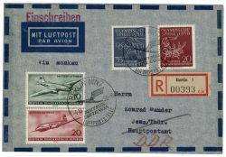 DDR 1956 Erstflug Berlin-Moskau - Mi-Nr. 513, 515, 539-540