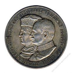Sachsen 1909 E J.138 2 Mark Friedrich August III. (1904-1918) 500 Jahre Universität Leipzig st