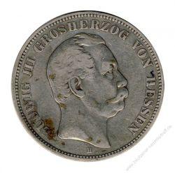 Hessen 1876 G J.67 5 Mark Ludwig III. (1848-1877) ss